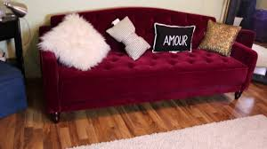 Tufted Sofa Sleeper by Unboxing My Vintage Inspired Sofa Sleeper Walmart Youtube