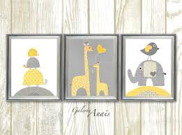 Yellow Gray Nursery Decor Nursery Decor Baby Boy Nursery Decor Yellow Gray Nursery Wall