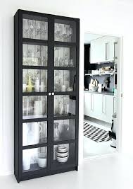 Bookcase With Glass Door Bookcases Glass Doors Wood Bookcase With Sliding Glass Door Black