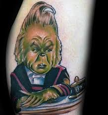 30 grinch tattoos for men dr seuss design ideas