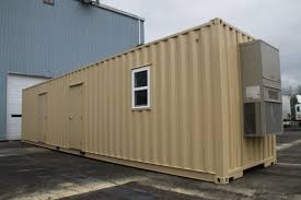 nice brown nuance of the conex container cabins that has nice