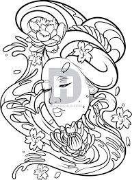how to draw a geisha tattoo step by step by darkonator drawinghub