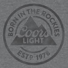 coors light t shirt amazon galleon coors light born in the rockies mens t shirt large