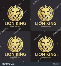 lion king template lion king logo design template element stock vector 514339777