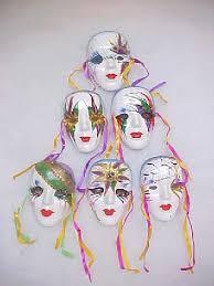 porcelain mardi gras masks ceramic mask