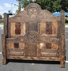 King Size Cowhide Bed From Cowhide Western Furniturejust - Cowhide bedroom furniture
