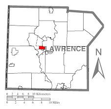 Map Of Oakland File Map Of Oakland Lawrence County Pennsylvania Highlighted Png