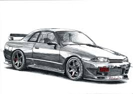 1967 nissan skyline nissan skyline r32 drawing hq print by cardesigner123 on deviantart