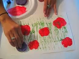 poppy field printing a toddler preschool art lesson youtube