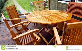 Free Wood Outdoor Furniture Plans by Wood Patio Furniture Stock Photos Image 35335873