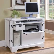 Computer Desk With Printer Storage Awesome Small White Computer Desk With Slider Keyboard Shelf