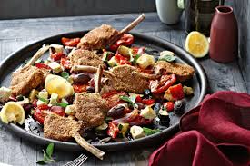 Roast Vegetables Recipe by Crumbed Lamb Cutlets With Roast Greek Salad Vegetables Recipes