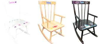 Wooden Rocking Chair Kids Personalised Childrens Rocking Chair Uk Childrens Rocking Chairs