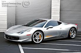 silver 458 italia acg san diego 458 italia dpe wheels usa