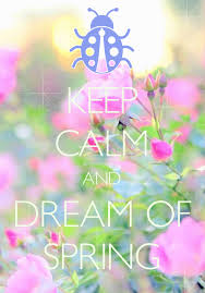 keep calm and dream of spring created with keep calm and carry