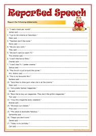 41 free esl direct speech worksheets