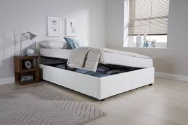 White Ottoman Bed Side Lift Ottoman Bed Gfw