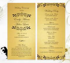 where to get wedding programs printed gold wedding programs ceremony programs printed on fancy