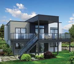 hillside cabin plans modern home plans for hillside