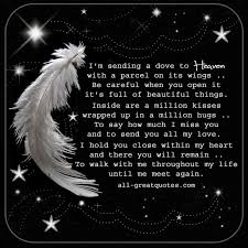 i u0027m sending a dove to heaven in loving memory poem cards grief