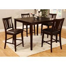 chair homelegance lee dining table espresso crackle glass insert