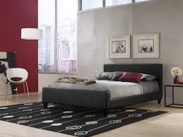 Full Platform Bed With Headboard Furniture Black Leather Platform Bed With Headboard Plus Black