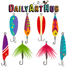 fishing lures clip set daily hub