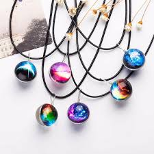 pattern crystal necklace images Wholesale 2017 duplex planet crystal stars ball glass galaxy jpg