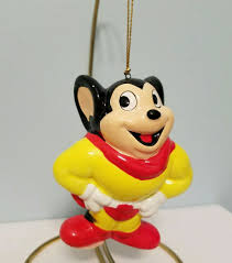 vtg 1988 mighty mouse ceramic ornament