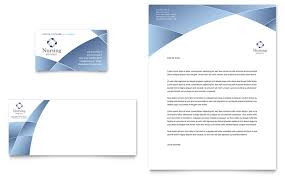 nursing hospital business card and letterhead design