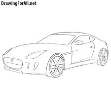 sports car drawing how to draw a jaguar car drawingforall net