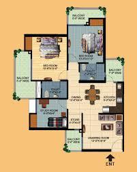 O2 Floor Plan by Ajnara Homes Floor Plans