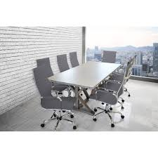 Leather Placemats For Conference Table Solis Armis 9 Galvanized Iron Top Nailhead Trim Table With