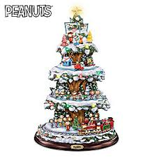 christmas tree with lights a peanuts christmas rotating tabletop tree with lights and motion
