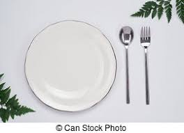 how to set a table with silverware table setting empty plate and silverware on wooden table stock