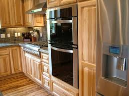 Kitchens With Hickory Cabinets Easy Hickory Wood Kitchen Cabinets 57 Within Home Enhancing Ideas