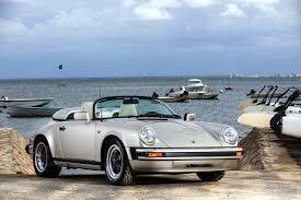 silver porsche convertible image porsche 1989 911 carrera speedster convertible antique silver