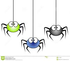 halloween cartoons background 3 cartoon spiders hanging royalty free stock image image 3274086
