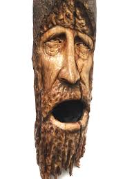 black friday sale wood spirit wood carving log home decor face