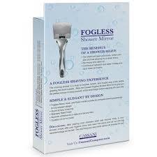 amazon com fogless shower mirror easy install shatter proof