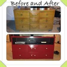 Shabby Chic Entertainment Center by My Go At Refinishing A Dresser Into An Entertainment Center Not