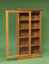 Mission Style Bookcase Amish Sliding Door Large Bookcase