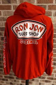 ron jon surf shop cozumel red zip front jacket shirt baja hoodie