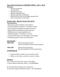 Chemical Engineer Resume Examples by Waitress Resume 14 Useful Materials For Waiter Top 8 Waiter And