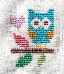 owl cross stich buhos owl cross stitch and stitch