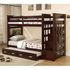 white bunk beds with practical stairs and storage bunk bed