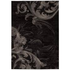 Area Rugs 6 X 10 Nourison Soho Black Grey 7 Ft 10 In X 10 Ft 6 In Area Rug