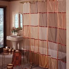 Beautiful Shower Curtains by Modern Bathroom With Light Mosaic Red Motif Shower Curtain And