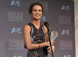 seen progress in my short time in showbiz alicia vikander on