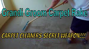 Rug Rakes Grandi Groom Carpet Rake For Professionals Youtube